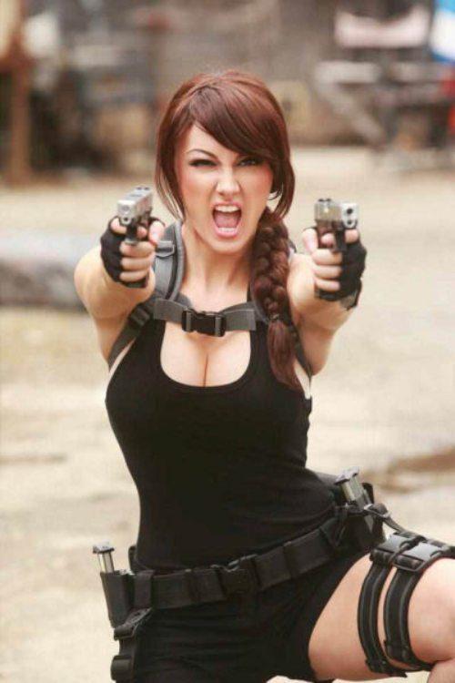 Seksualios merginos Lara Croft Tomb Raider