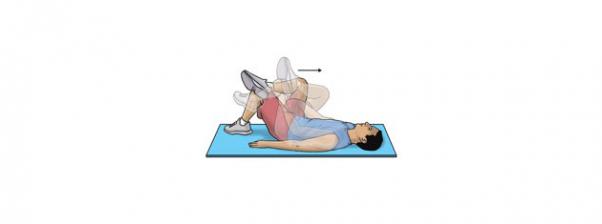 Pratimai nugaros apačiai: sėdmenų raumenų tempimas