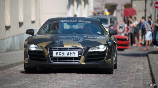 Gumball 3000 Vilnius: Audi R8 ir David Hasselhoff su savo drauge