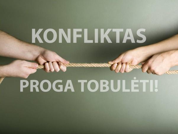 Konfliktas - proga tobulėti