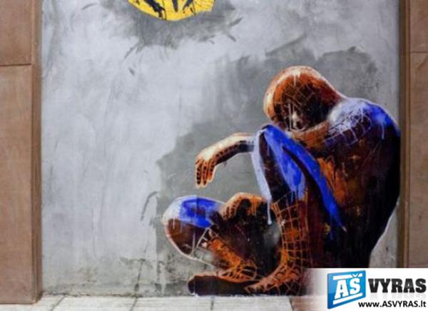 Vieni vadina tai graffiti, mes manom, kad tai menas