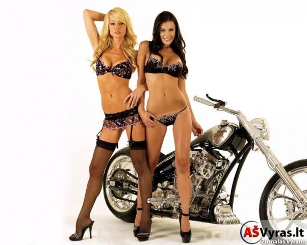 Merginos ir motociklai
